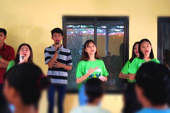 Worship Team During a Church Service