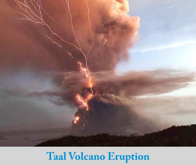 Philippines Taal Volcano Eruption Update