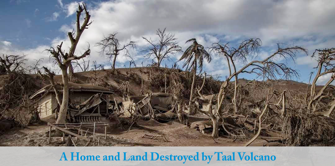 A Home and Land Destroyed by Taal Volcano