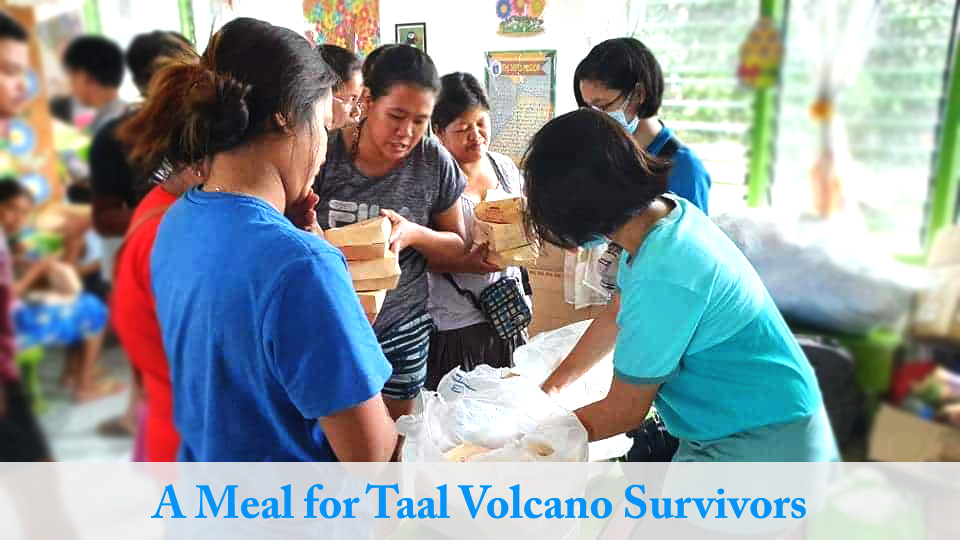 A Meal for Taal Volcano Survivors