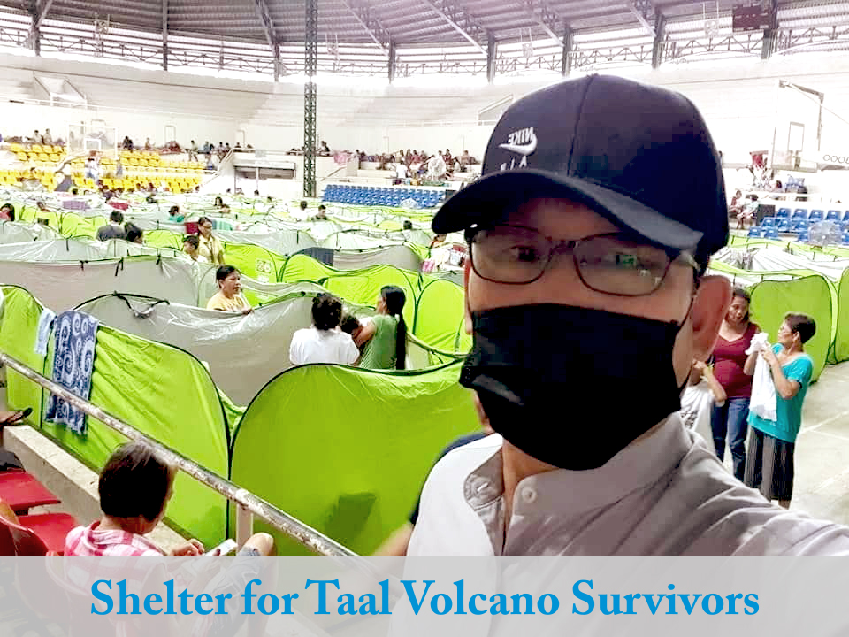 Shelter for Taal Volcano Survivors
