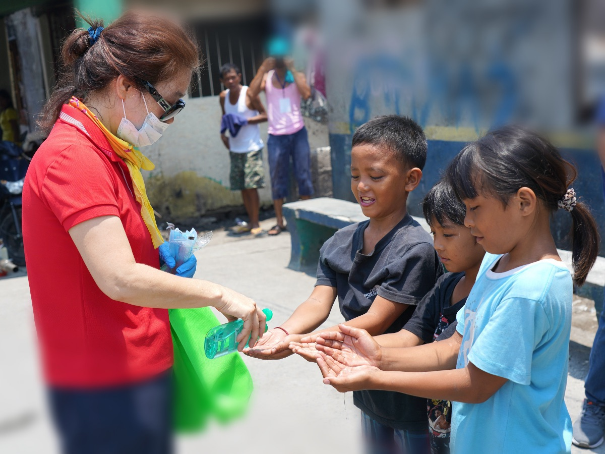 Hand Sanitizing in Bacoor, Philippines