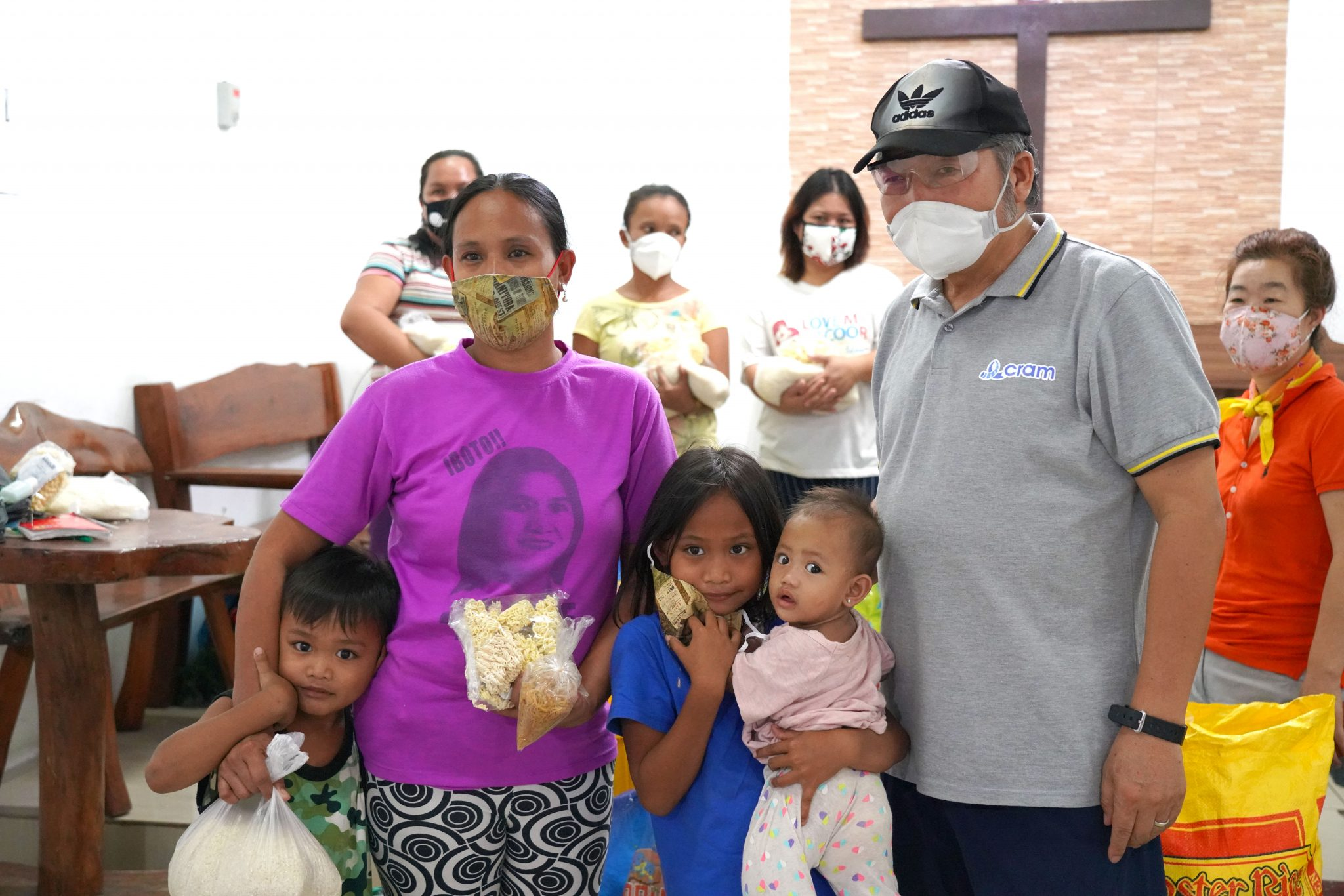 Mask and Food Aid in Bacoor, Philippines