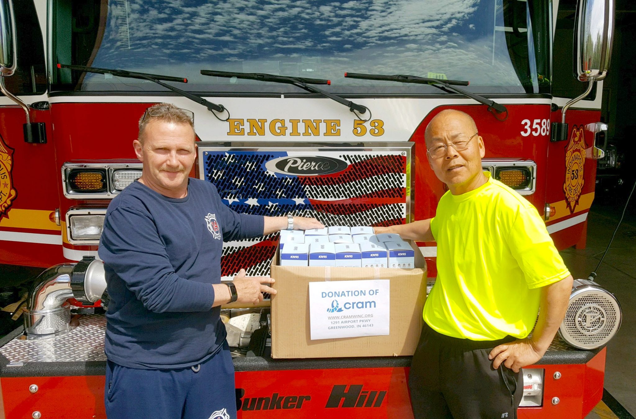 N95 Masks Donated to Station 53 Fire Department in Indiana