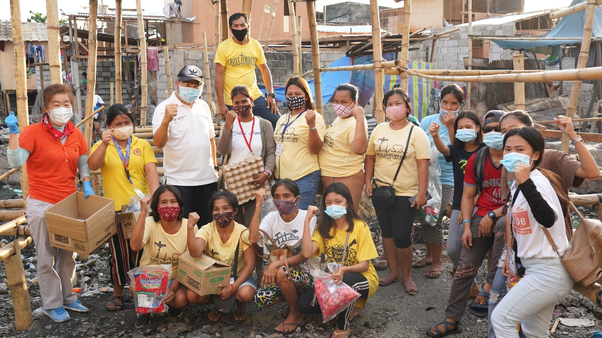 Relief Aid in the Area Affected by Fire Barangay, Philippines