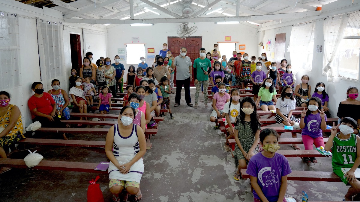 Social Distancing at Church Before More Strict Stay-at-Home Orders